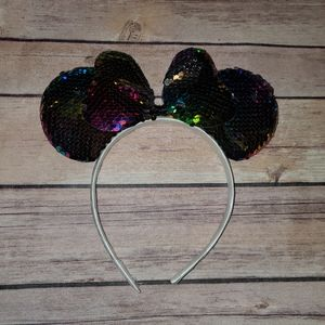 Other - Multi color sequin mouse ears